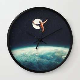 Returning to Earth with a will to Change Wall Clock
