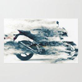 Dynamic motorcycle Rug