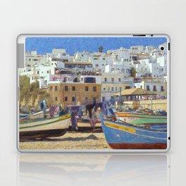 Albufeira fishing boats, Portugal Laptop & iPad Skin