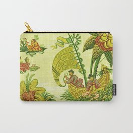 Chartreuse Chinoiserie Carry-All Pouch