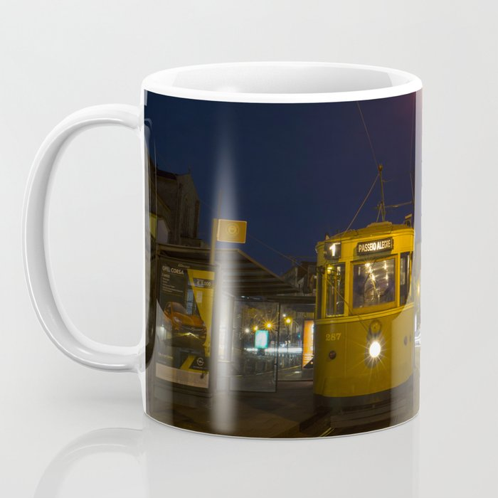 Porto Night Tram Coffee Mug
