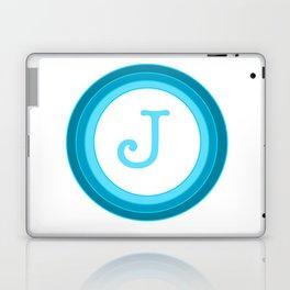 Blue letter J Laptop & iPad Skin
