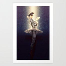 Precious Pierrette Illuminated Art Print