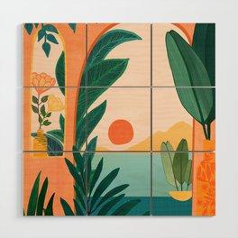 Tropical Evening Wood Wall Art