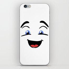 Emoji happy face iPhone Skin