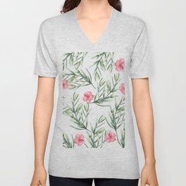 Delicate Hibiscus Unisex V-Neck