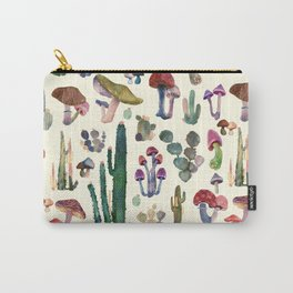 mushrooms and cactus Carry-All Pouch