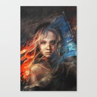 lady gaga Canvas Prints featuring Do You Hear the People Sing? by Alice X. Zhang