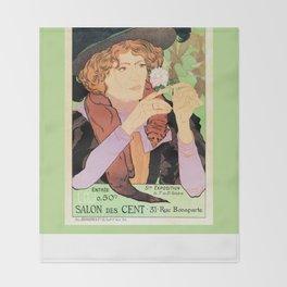 Art Nouveau Expo Salon des Cent Paris Throw Blanket