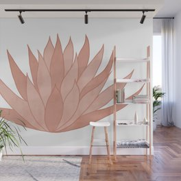 Pink Succulent Wall Mural