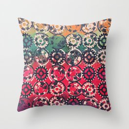 Grunge industrial pattern Throw Pillow