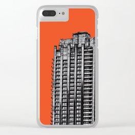 Barbican London (orange) Clear iPhone Case