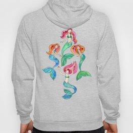 Merry Mermaids in Watercolor Hoody