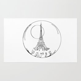 paris in a glass ball without a shadow Rug