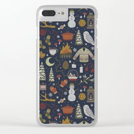 Winter Nights Clear iPhone Case
