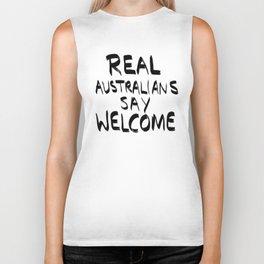 Real Australians Say Welcome Biker Tank