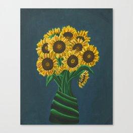 Gogh Sunflowers Canvas Print
