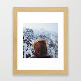 Winter Isn't Always Bad  Framed Art Print