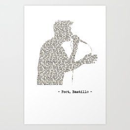 Bastille Poet Lyrics Art Print