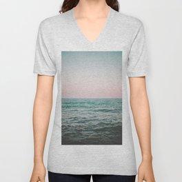 blush ocean Unisex V-Neck