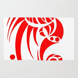 Dragosseria - red fantasy dragon Rug