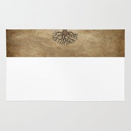 Vintage Tree of Life with Flag of Dominican Republic Rug