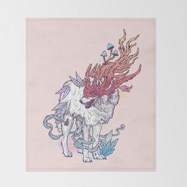 Spirit Animal - Wolf Throw Blanket