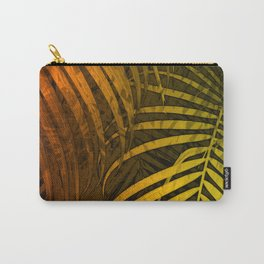 TROPICAL LEAVES GREEN MOCCA no1 Carry-All Pouch