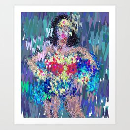 Wonder Type Woman - Abstract Pop Art Comic Art Print