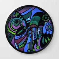 bugs Wall Clocks featuring BUGS by Deyana Deco