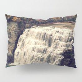 Waterfall in autumn Pillow Sham