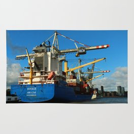 Container Ship Rug