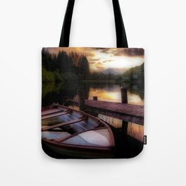 Summer Sunset Over Loch Ard Tote Bag