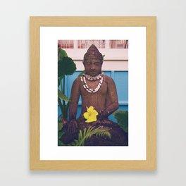 Vintage Kauai Buddha Framed Art Print
