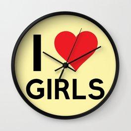 I love Girls Wall Clock