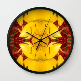 """""""A Gathering of Lilies"""" Remix - 4 (4-1) [D4469~57] Wall Clock"""