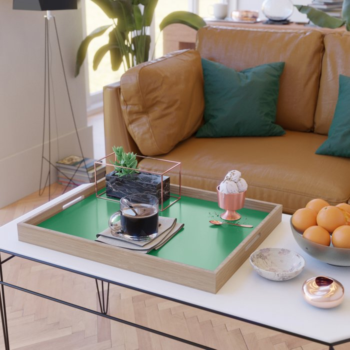 Solid Color Teal Green Serving Tray