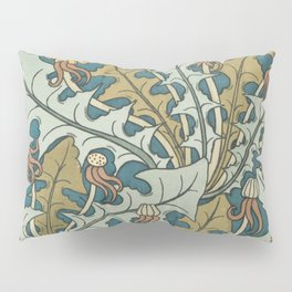 Art Nouveau Dandelion Pattern Pillow Sham