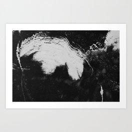 Snowy brush strokes Art Print