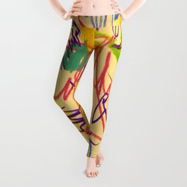 squiggletown twombly Leggings