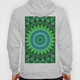 Mandala in bright green and blue Hoody