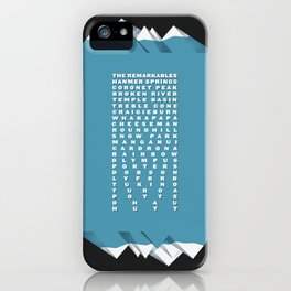 NZ Ski Fields iPhone Case