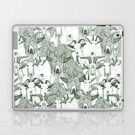 just goats dark green Laptop & iPad Skin