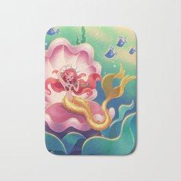 Mermaid in Large Clamshell Bath Mat
