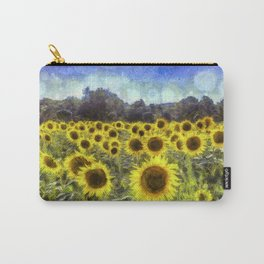 Sunflower Fields Of Dreams Art Carry-All Pouch