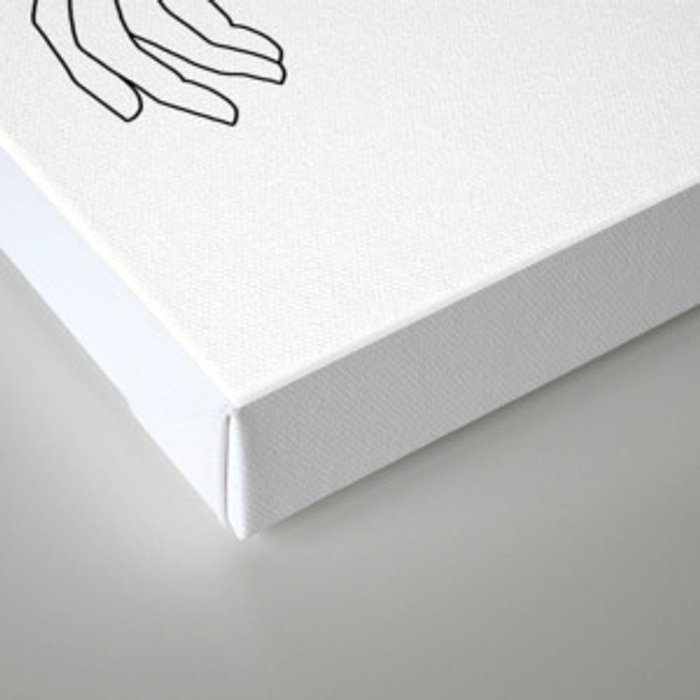 Minimal line drawing of woman's folded arms - Anna Canvas Print