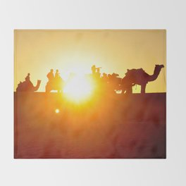 Thar Desert, Rajasthan, India Throw Blanket
