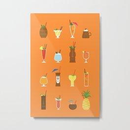 Tiki Drinks Metal Print