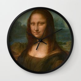 Mona Lisa Classic Leonardo Da Vinci Painting Wall Clock