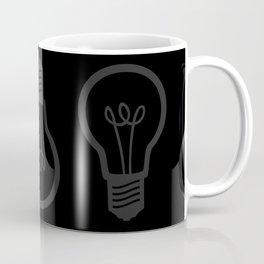 Burned Out Light bulb (Dark Grey and Black) Coffee Mug